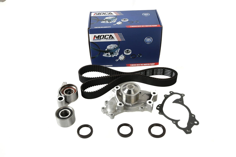Moca Timing Belt Water Pump Kit For 02 06 Toyota Camry 1993 Lexus Es 300 08 Highlander 04 Solara Es330 1mzfe 3mzfe 30l 33l
