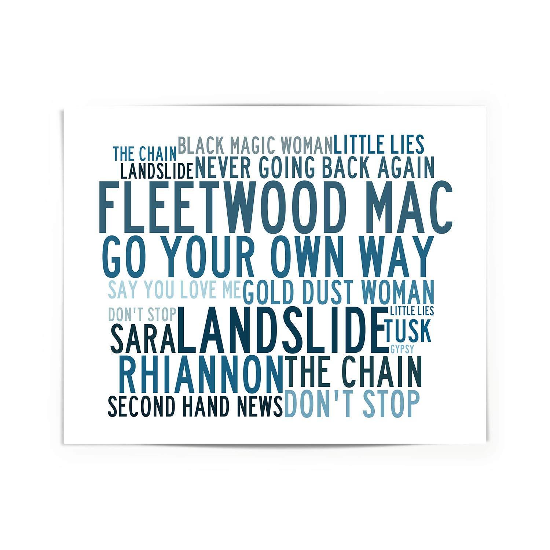 Lyrics Gift Signed Art Anthology Fleetwood Mac Poster Print