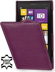 StilGut, UltraSlim, pochette exclusive de cuir véritable pour le Nokia Lumia 1020, pourpre