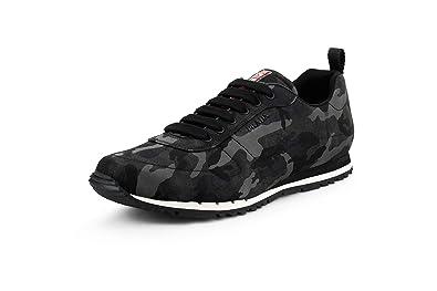 8bce8912 Amazon.com | Prada Men's Nylon Camo Sneaker, Smoke Camo 4E3220 ...