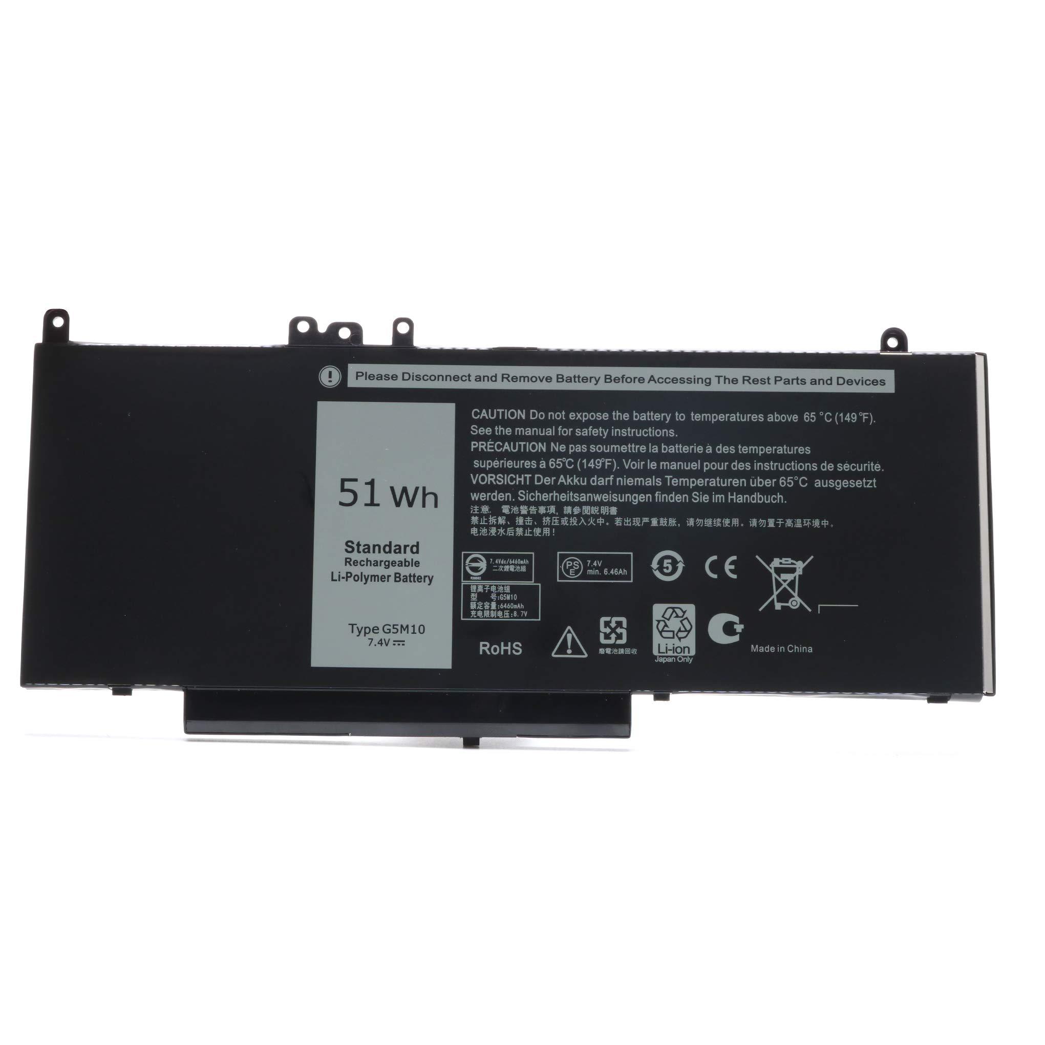 Bateria 7.4V 51WH G5M10 Dell Latitude E5450 E5550 E5250 15.6