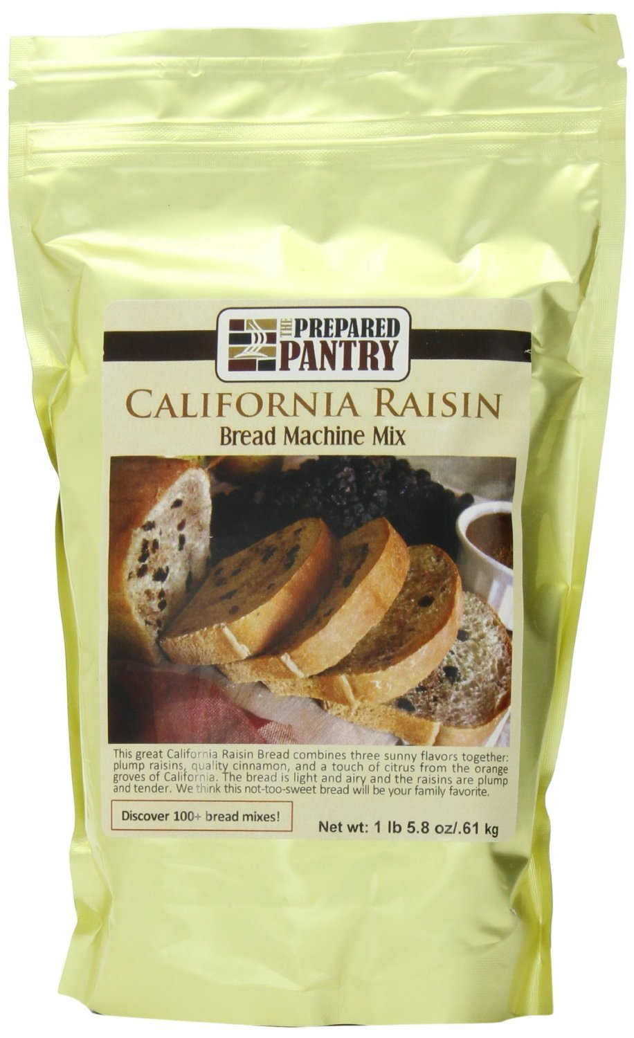The Prepared Pantry California Raisin Bread Machine Mix, 21.8 Ounce (Pack of 4)
