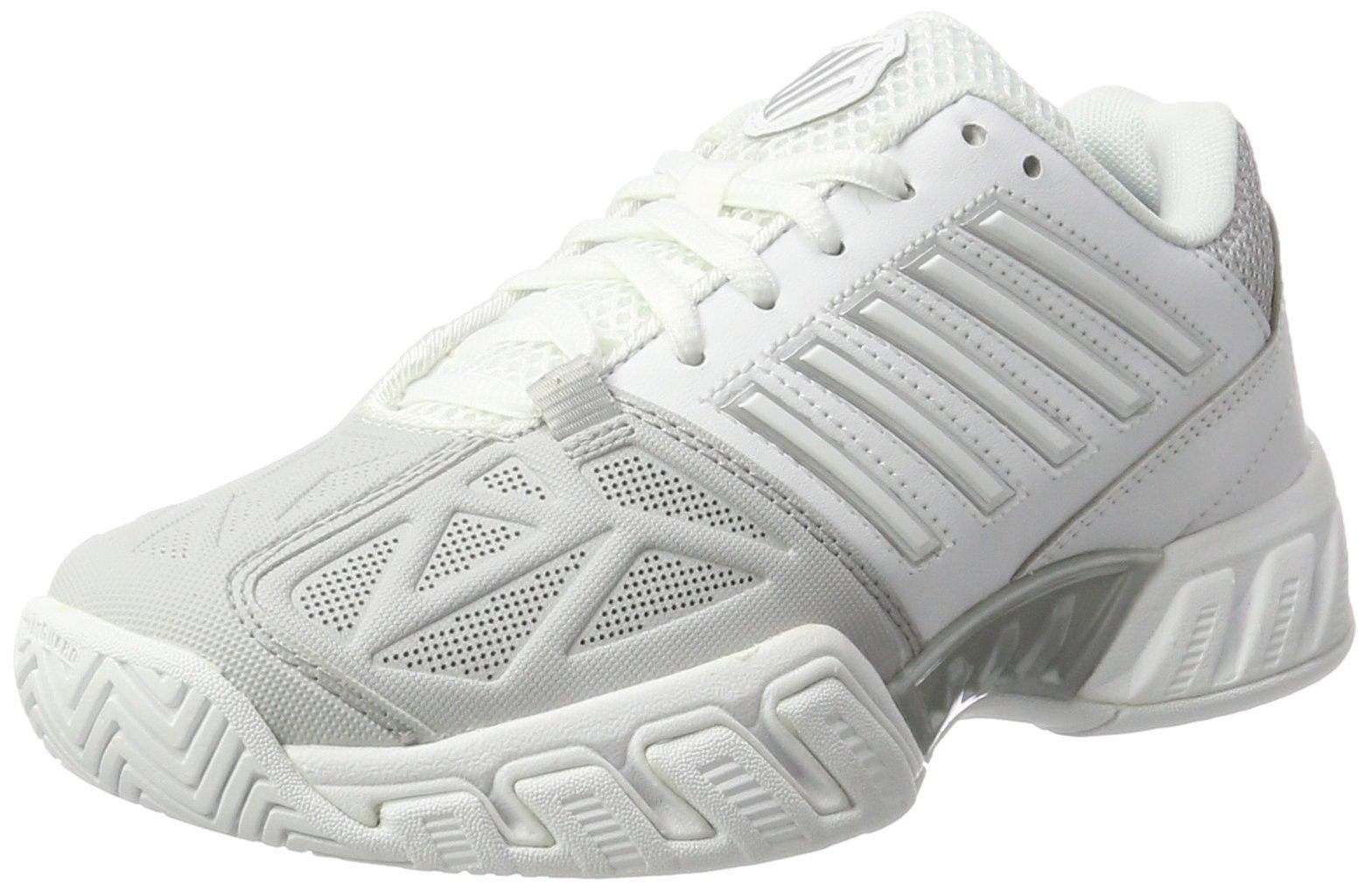 K-Swiss Women's Bigshot Light 3 Tennis Shoes (White/Silver) (10 B(M) US)
