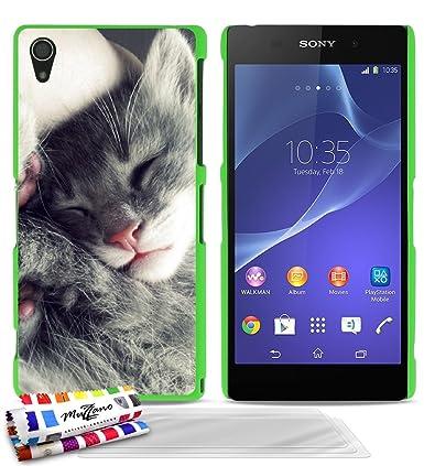 Amazon.com: GENUINE Extra-Slim rigid Green Case Grey Kitty ...