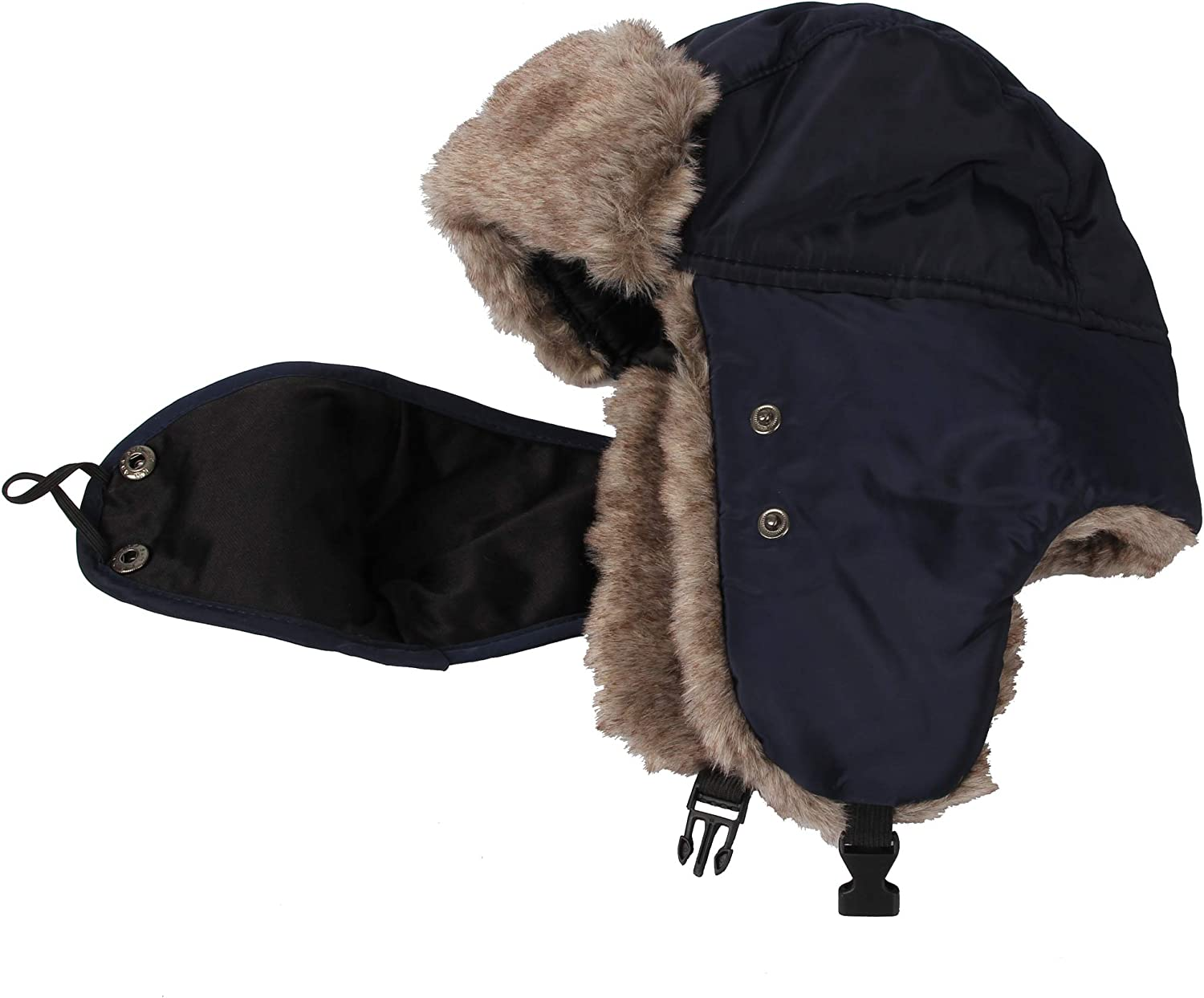 WITHMOONS Trooper Trapper Hat Winter Windproof Cap Faux Fur CRT1143
