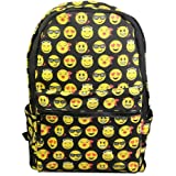 Katomi New QQ Printing Emoji Backpack Canvas Travel Satchel Cute Gril School Rucksack