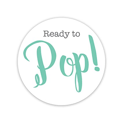 Amazon 40 Popcorn Baby Shower Stickers Shes Ready To Pop