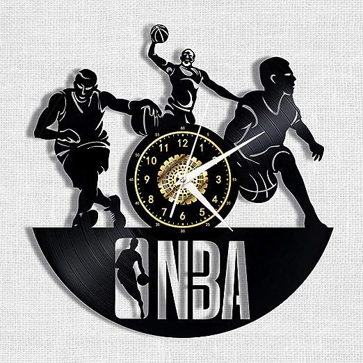 Baloncesto NBA Disco De Vinilo Negro Reloj De Pared Retro ...