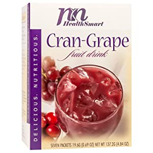 HealthSmart - Cold Fruit Drink - Cran-Grape - 15g Protein - Low Calorie - Low Carb - Sugar Free - Fat Free (7/Box)