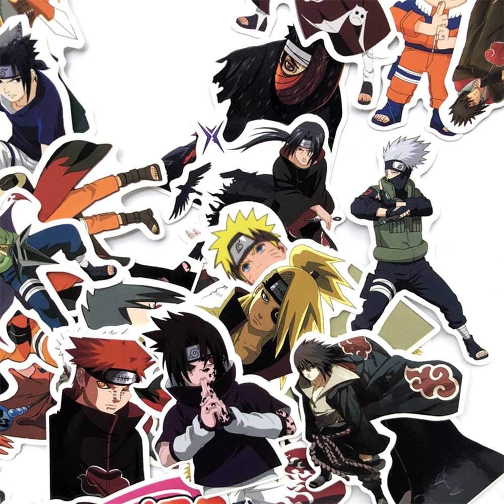 5-10cm 63PCS Fuguan Naruto Sticker Pack Waterproof Vinyl Stickers Car Motorcycle Bicycle Skateboard Luggage Decal for Kids Teens Adult