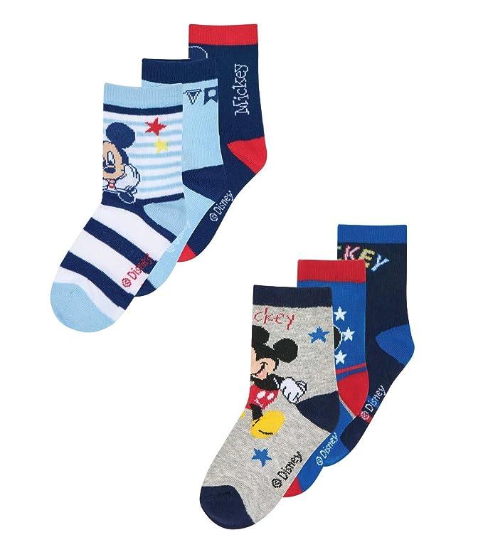 Mickey Mouse - Calcetines hasta la rodilla - para niño Multicolor 23/26 : Amazon.es: Ropa y accesorios