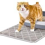 Pet Union Jumbo Cat Litter Mat, 89 x 58 cm, Fashionable Design, Phthalate Free, Captures and Traps Litter, Slip-Resistant, So