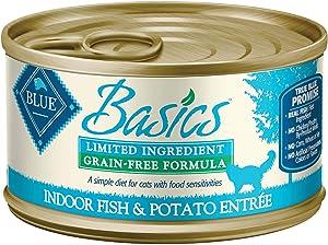 Blue Buffalo Blue Basics Adult Grain-Free Fish and Potato Entree Wet Cat Food, 3 oz., Case of 24, 24 X 3 OZ