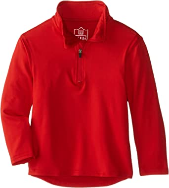 Wes and Willy Boys Performance Pullover Quarter Zip Top