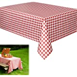 Dazzling Toys Party Vinyl Tablecloth - Pack of 6 - Each Tablecloth Measures 70 Inch X 70 Inch