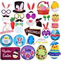 32-Pcs. Threemart Easter Party Photo Booth Props Kit