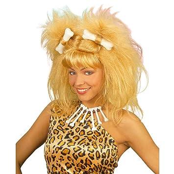 Peluca rubia de Wilma pelo postizo carnaval Picapiedra