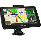 AWESAFE GPS Navigation for Car 7 inches Touch Screen Car GPS Navigation System North America Lifetime Map Updates