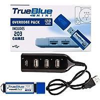 Petforu True Blue Mini Overdose Pack USB Stick Plug and Play for PlayStation Classic (128GB, 203 Games)