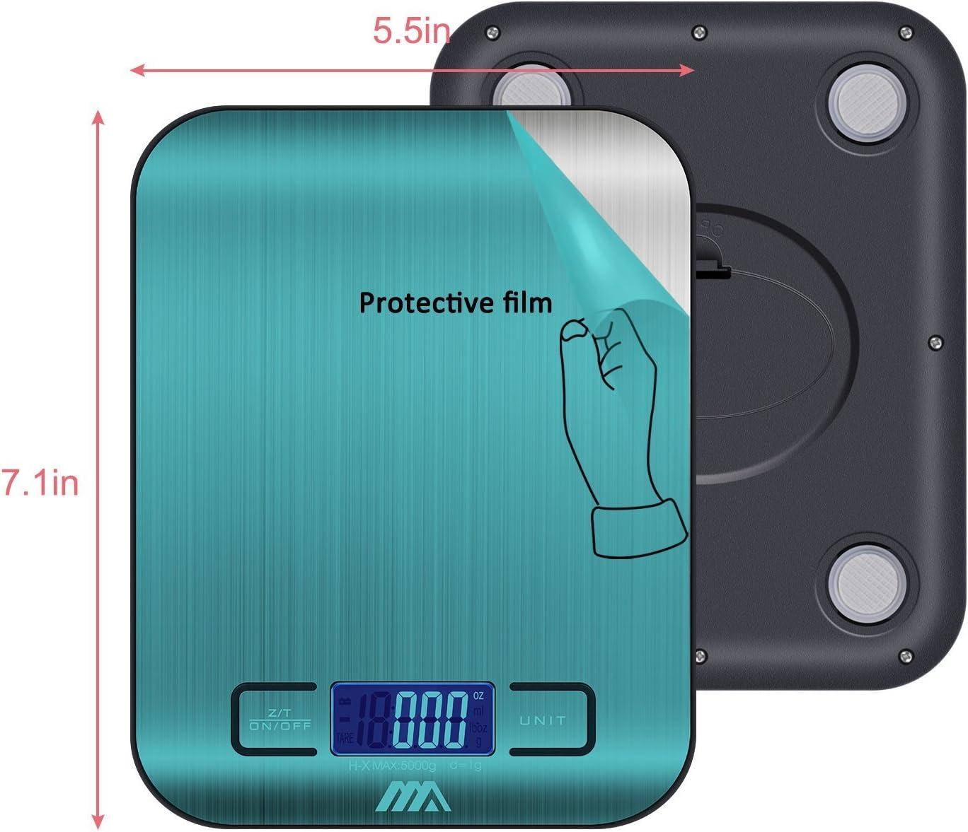 Color Plateado Joyer/ía y M/ás Mini Balanza Escala Multifuncional electr/ónica para Alimentaci/ón Smart Weigh Adoric B/áscula digital Cocina
