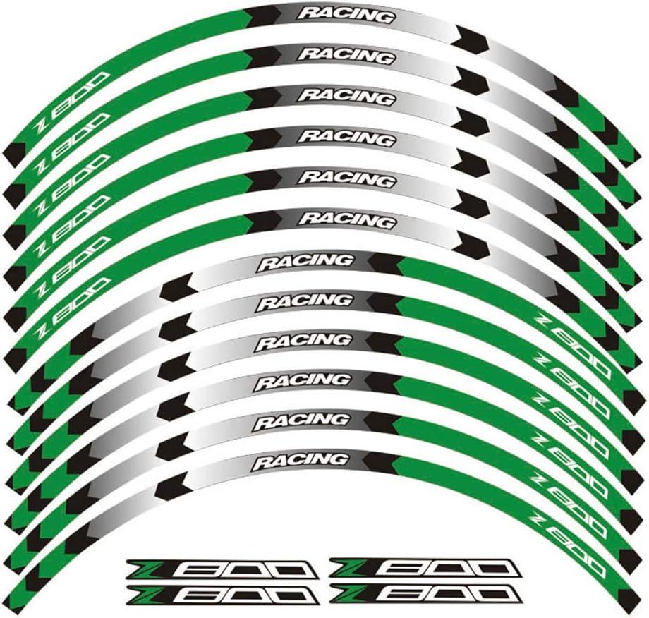 psler Moto Interne Roues Jantes Autocollant pour Kawasaki Z750