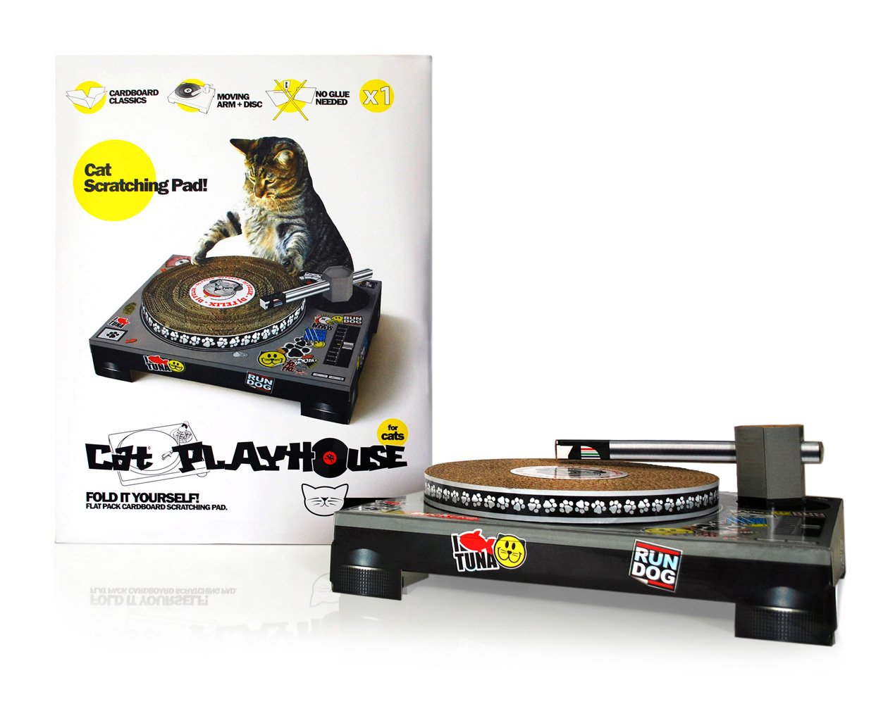 Amazoncom SUCK UK Cat Scratching DJ Deck Scratching Posts - This company makes cardboard tanks houses and planes for cats and theyre perfect