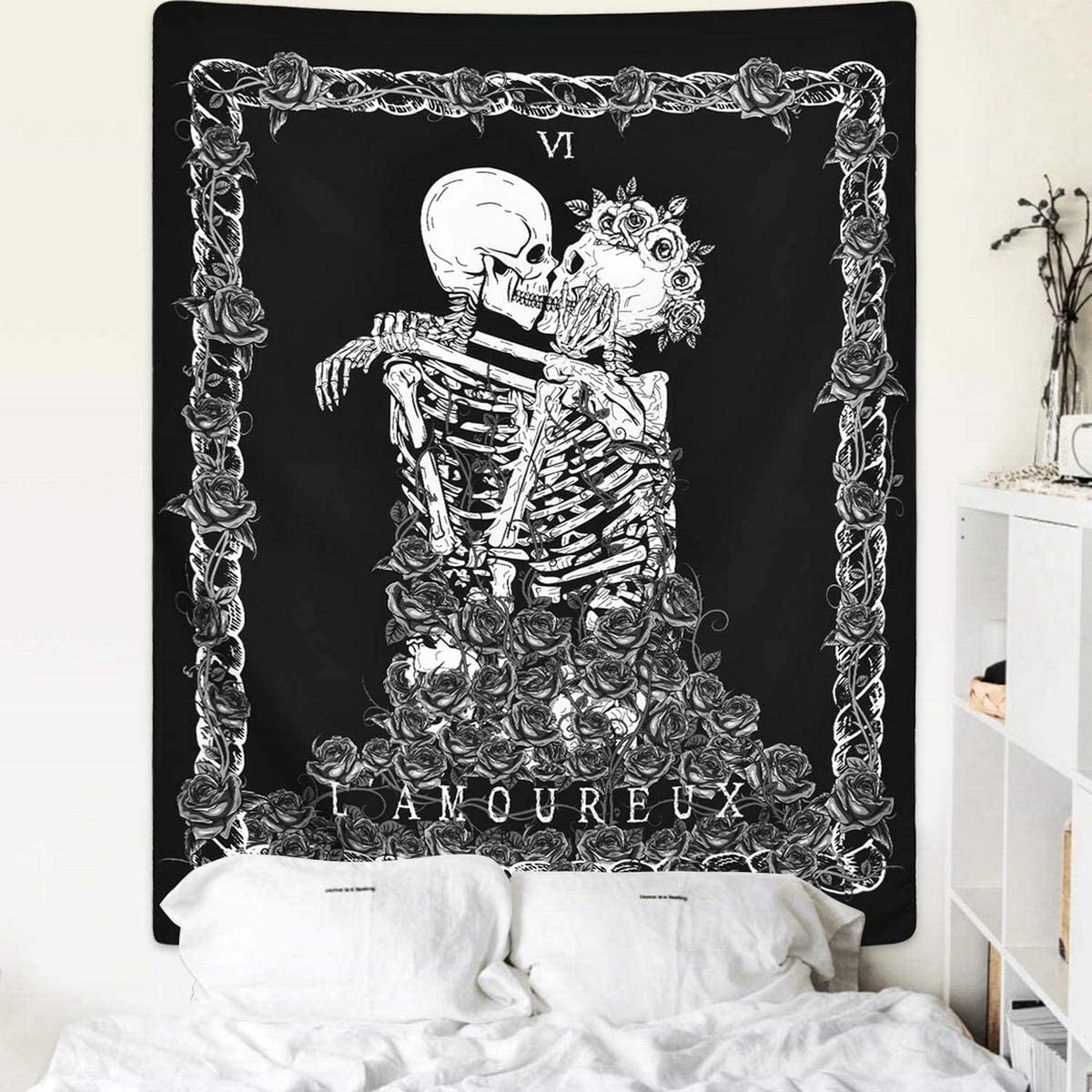 Tapisserie Murale avec t/ête de Mort ZCOINS D/écoration Murale pour Salon Chambre /à Coucher dortoir