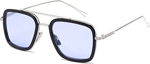 Mens Sunglasses Vintage Oversized Pilot Oval Lens with UV400 Eyewear Women Girls
