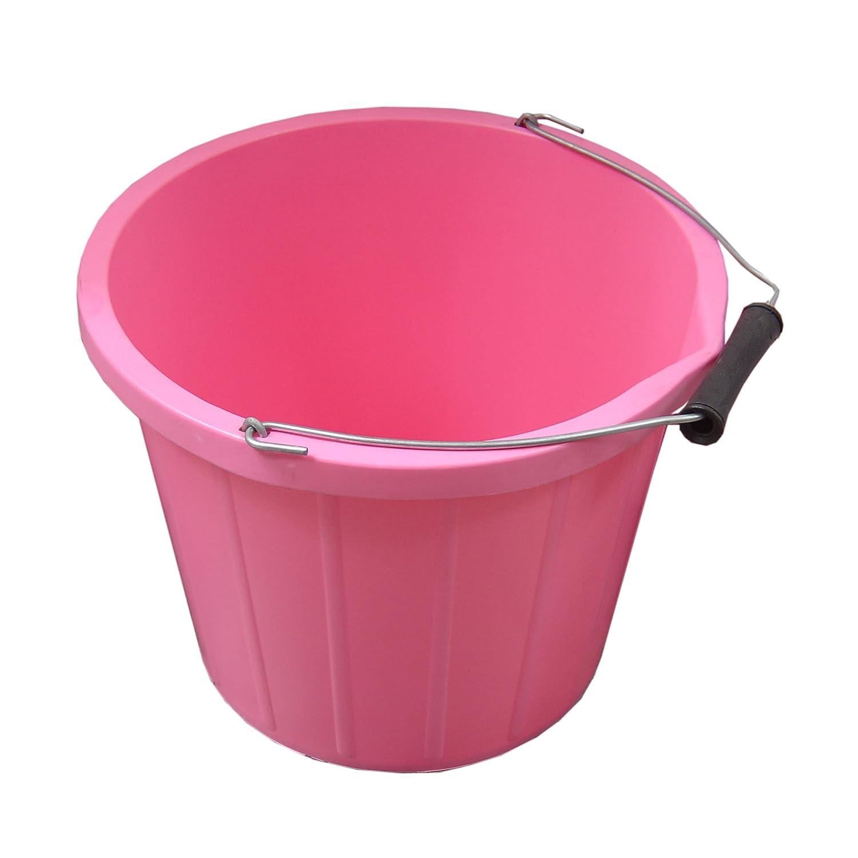 (プロステーブル) ProStable 馬用 餌水入れ バケツ おけ 乗馬 ホースライディング B079JHNTSP 3ギャロン (約14リットル) ピンク ピンク 3ギャロン (約14リットル)