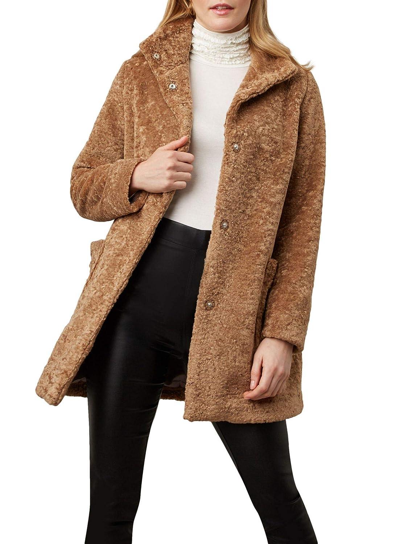 (ジュームズ レイクランド) James Lakeland Teddy Faux fur coat テディフェイクファーコート(並行輸入品) B07MMH1VNX ベージュ 10