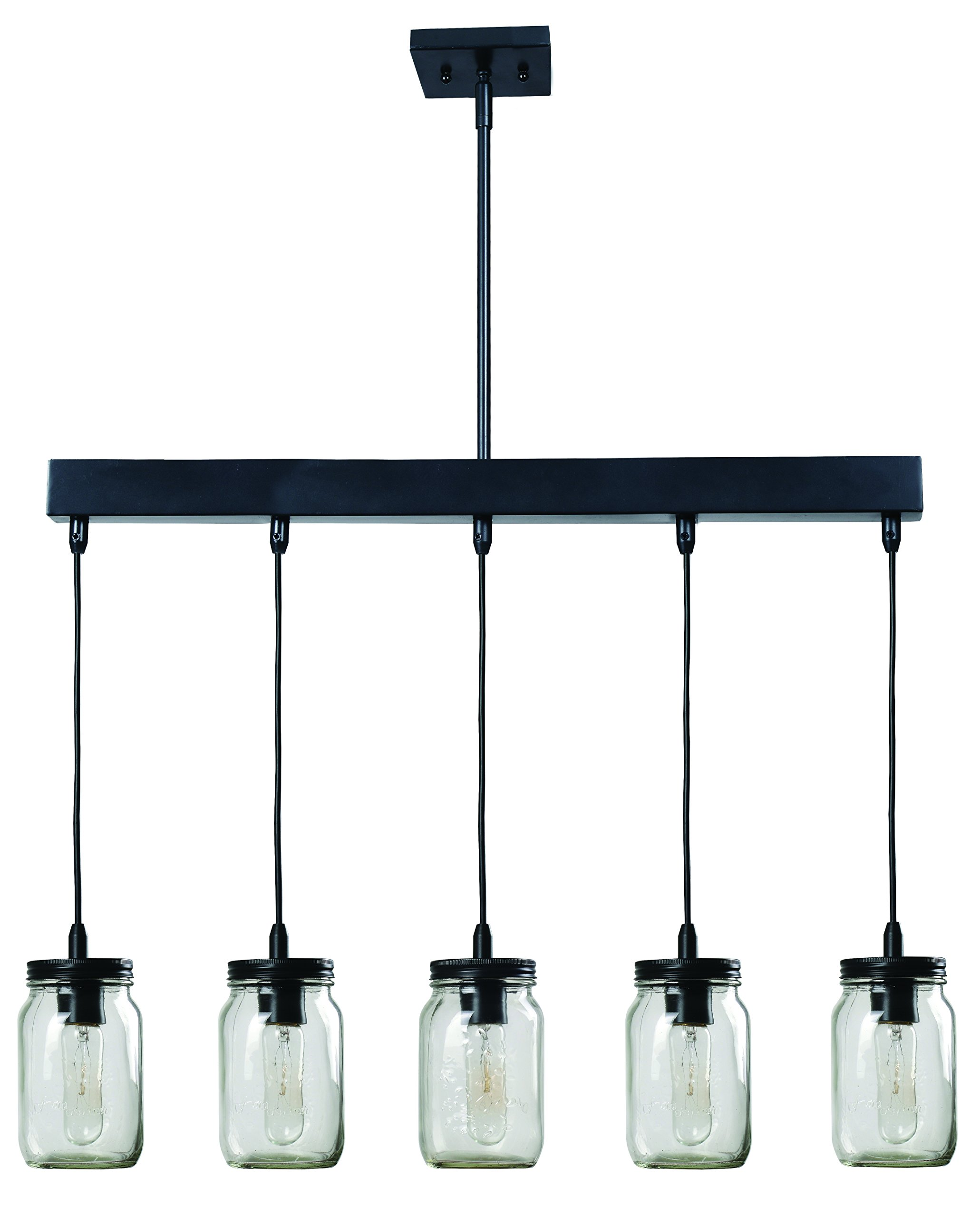 Kenroy Home 93695ORB  Appalachian 5-Light Island Light, Blackened Oil Rubbed Bronze