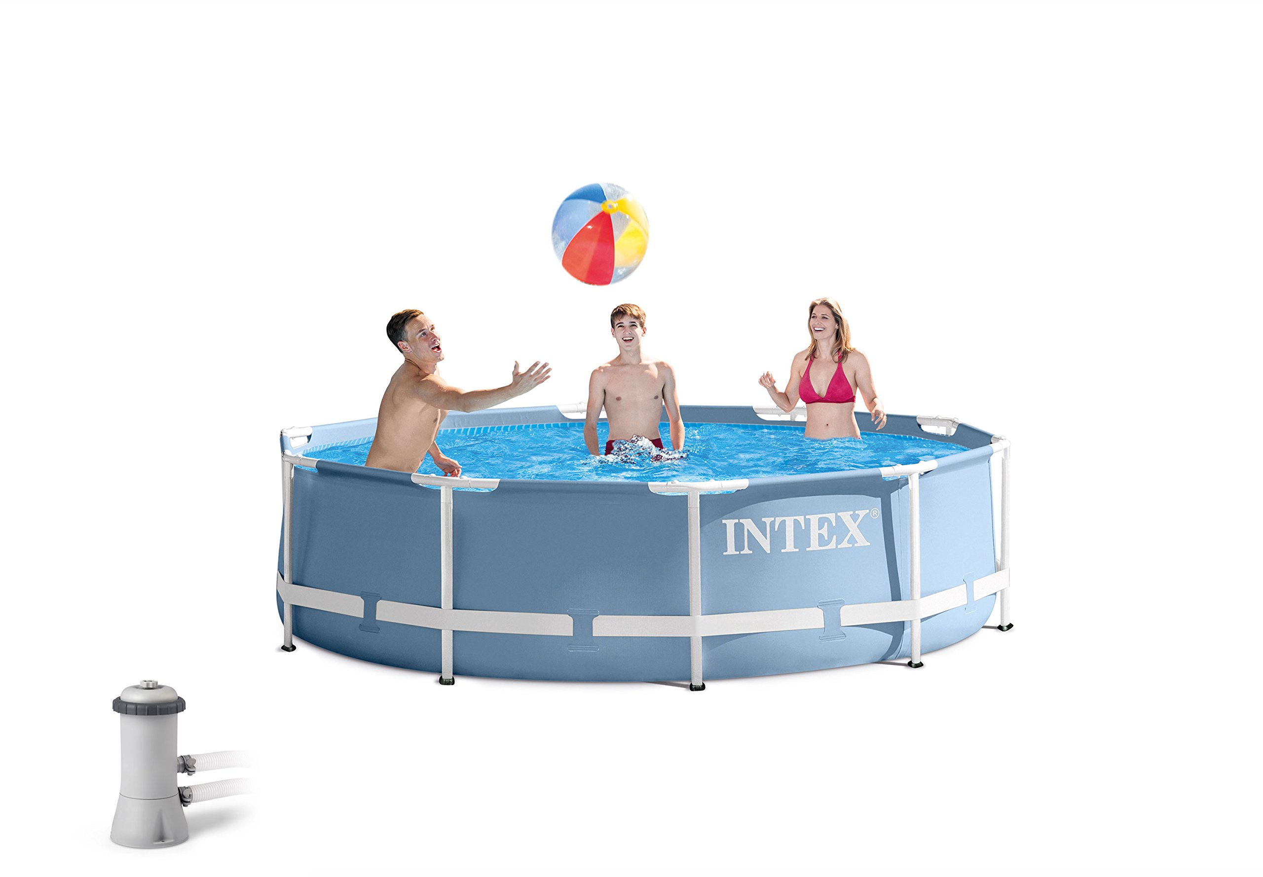 Intex 12ft X 30in Prism Frame Pool Set with Filter Pump by INTEX (Image #1)