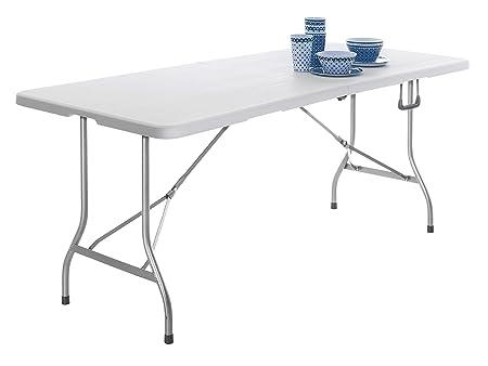 Mesa Plegable de plástico, Plegable con asa, Mesa de jardín, Mesa ...