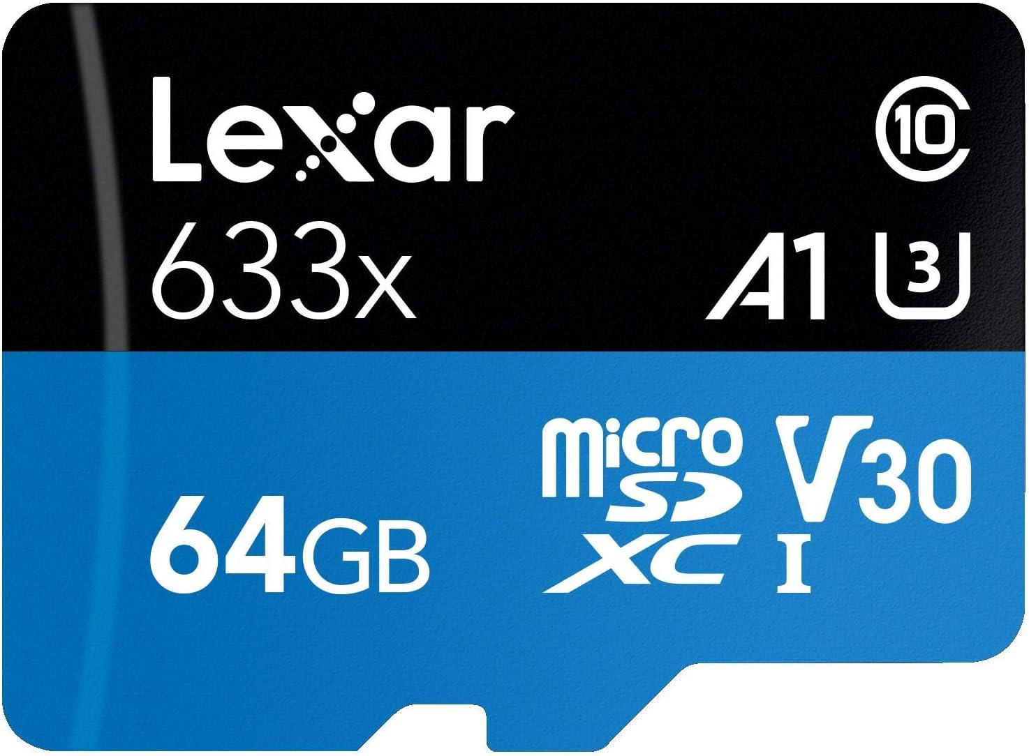 LSDMI512BBNL633A Lexar High-Performance 633x 512GB microSDXC UHS-I Card with SD Adapter