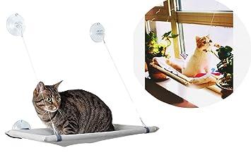 takestop® ergonómico Hamaca Cama Cuna de Ventana a Ventosa Cristal Sunny Seat Salvaspazio Asiento Lavable Caseta para Gato Gatos: Amazon.es: Electrónica
