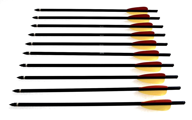Armbrustbolzen Bolzen f/ür Armbrust 14 Zoll schwarz