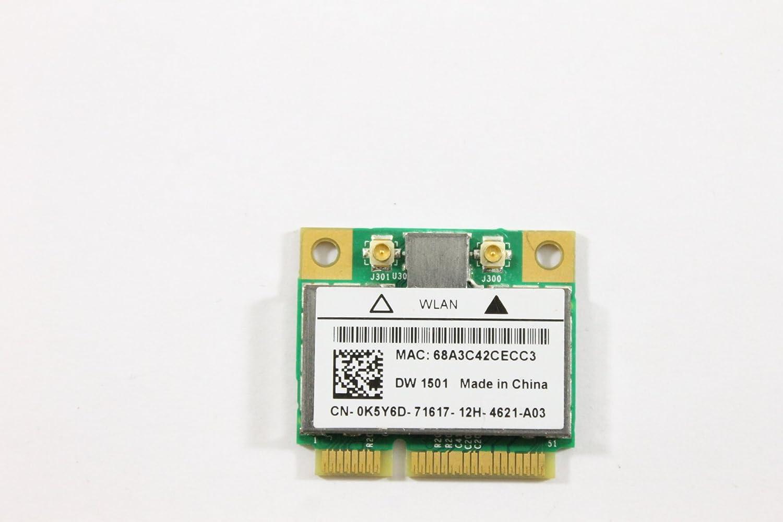 Dell Mini PCI Express Half Height K5Y6D WLAN WiFi 802.11n Wireless Card Inspiron N5010 N4010 Studio