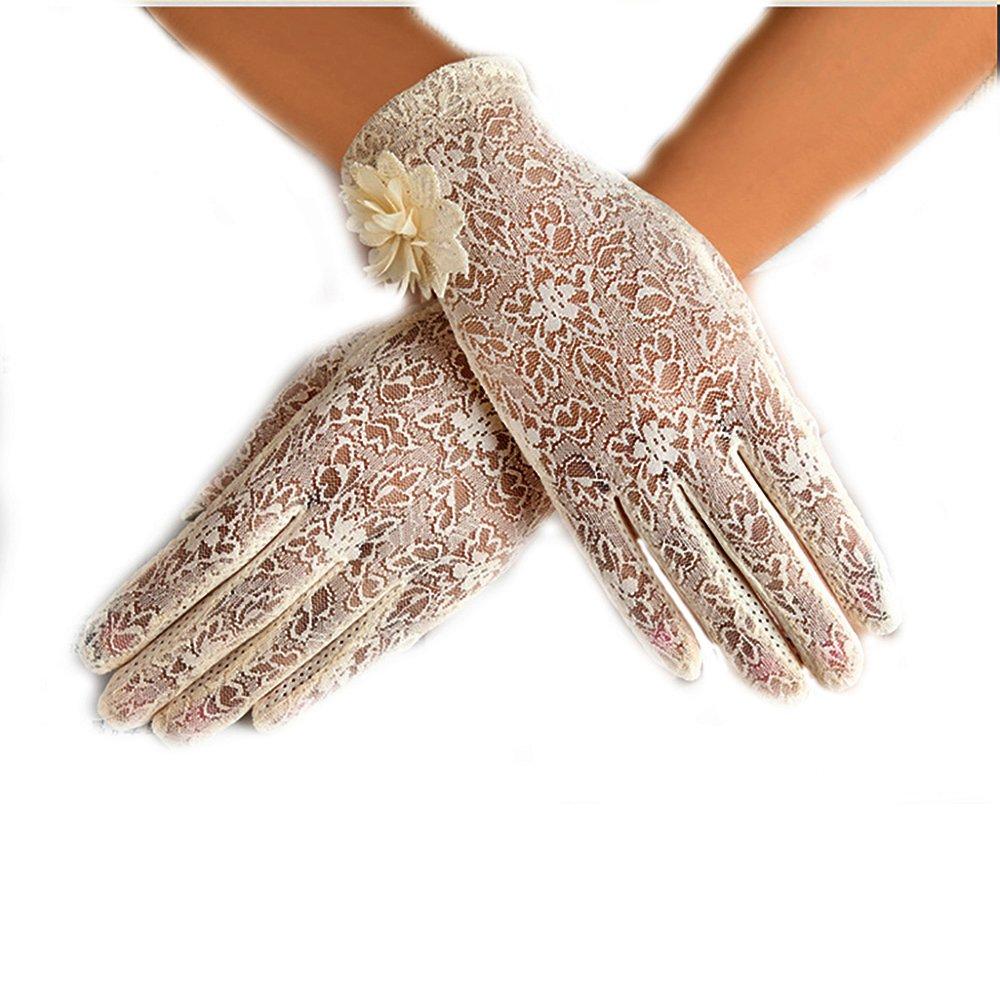 URSFUR Damen Sch/öne Hochwertige Spitze Sommer Sonnenschutz Handschuhe Netzhandschuhe spitzenhandschuhe Brauthandtuche