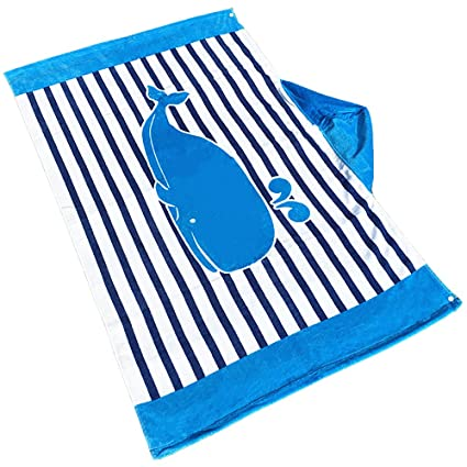 JYSP - Toalla de playa con capucha para niños, diseño de animales, 100%
