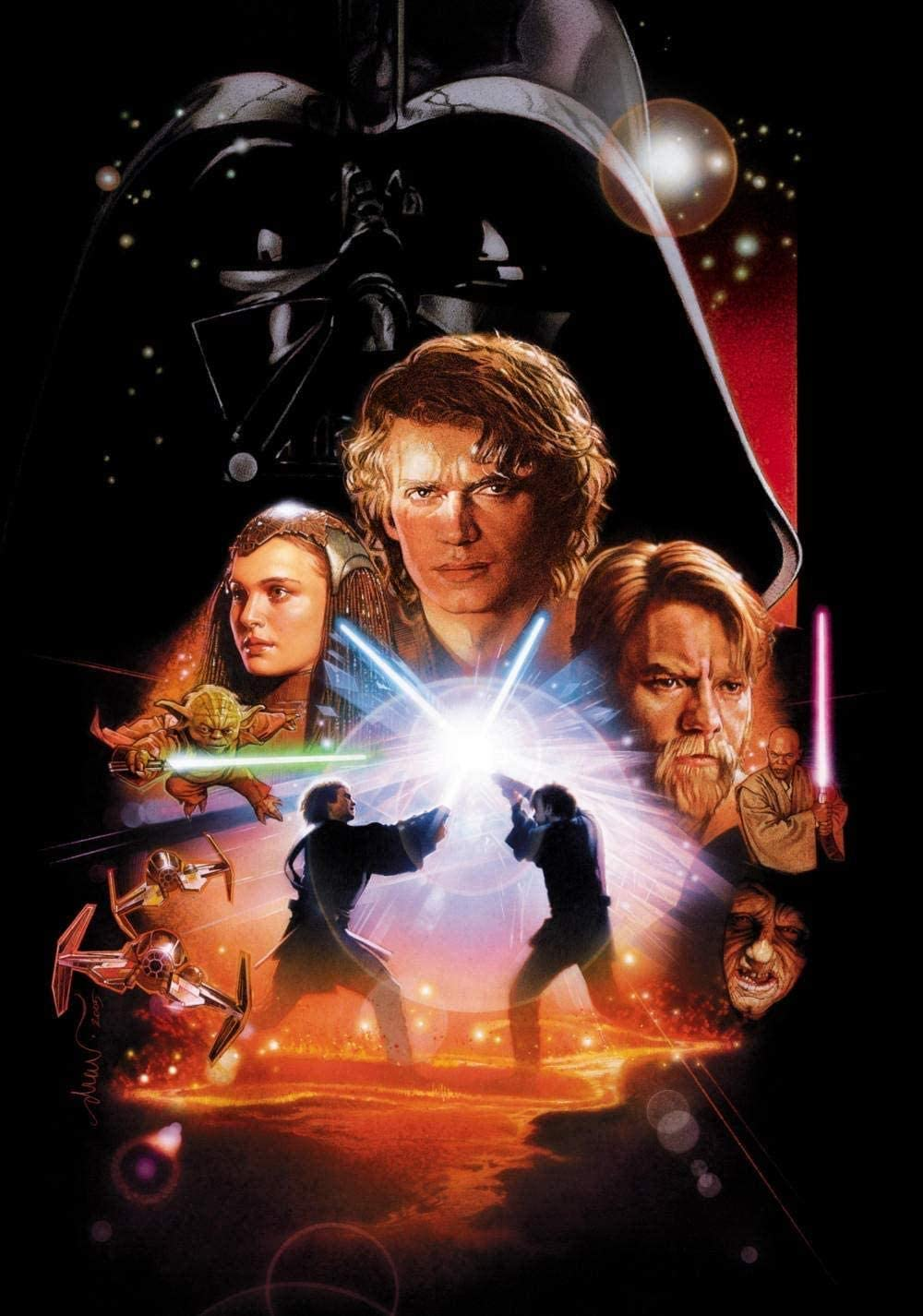 Amazon Com 1000 Pieces Jigsaw Wooden Puzzle Star Wars Episode Iii Revenge Of The Sith Funny Jigsaw Puzzles Educational Games Gift Puzzle Kids Toy 75x50cm Toys Games