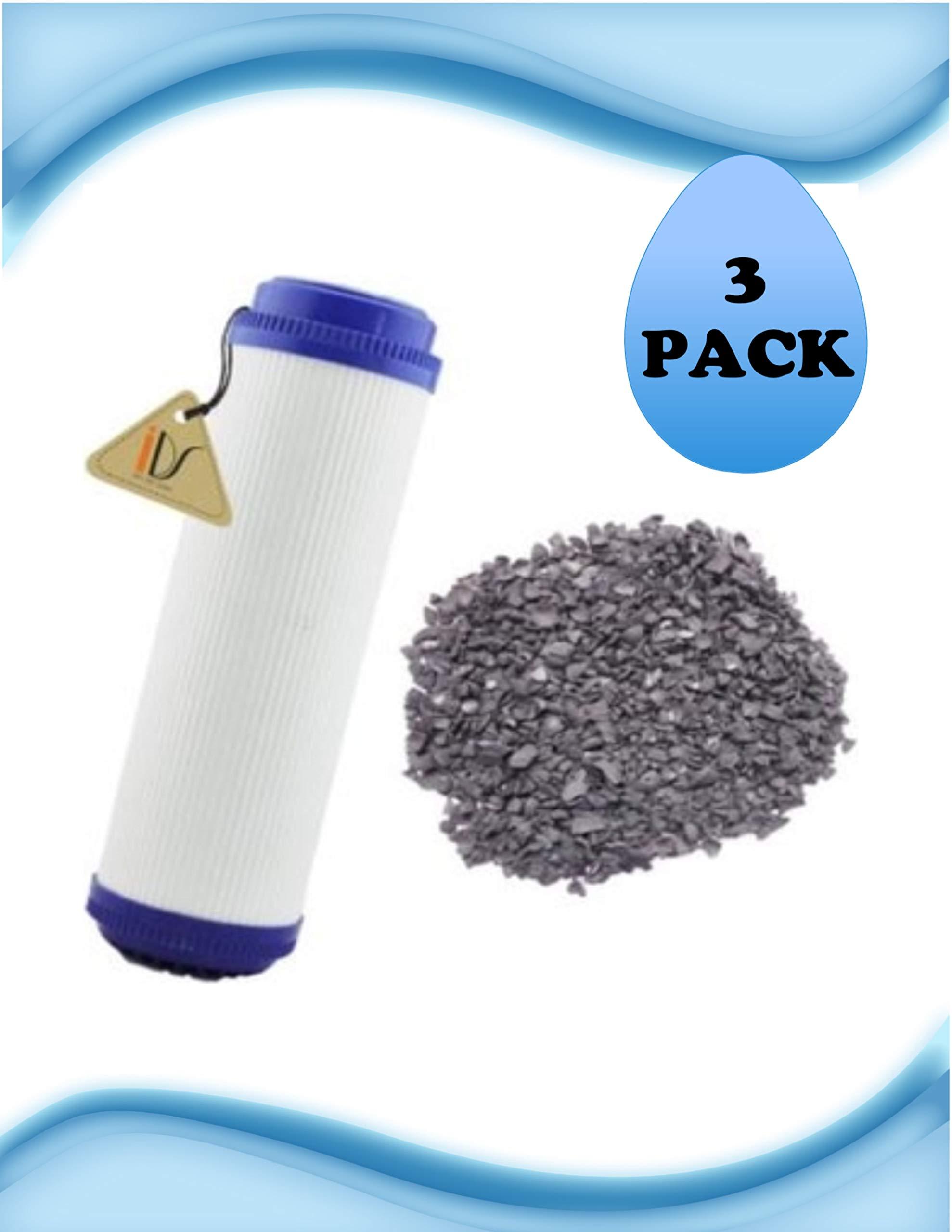 3 Pack of OMNIFilter GAC1-SS Compatible TASTE/ODOR FILTERS