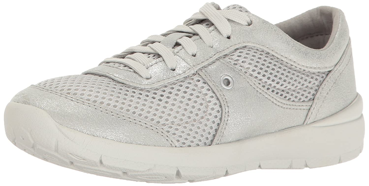 Easy Spirit Women's Gogo3 Fashion Sneaker B01N8SVG7U 9 W US|Silver/Silver Synthetic