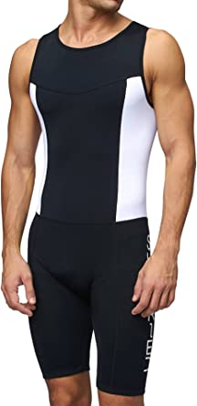 Mens Triathlon Compression Speed Racing Suit Swimming Exercise Clothing