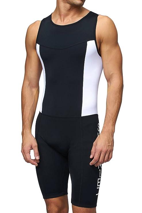 a71d32c8d9c Sundried Mens Premium Padded Triathlon Tri Suit Compression Duathlon  Running Swimming Cycling Skin Suit (X