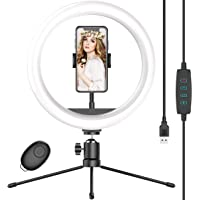 Deals on Waulnpekq 10-in Selfie Ring Light with Tripod Stand