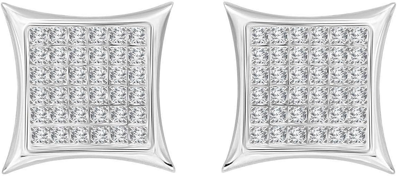 Unisex Diamond Kite Star Stud Post Earrings 925 Yellow