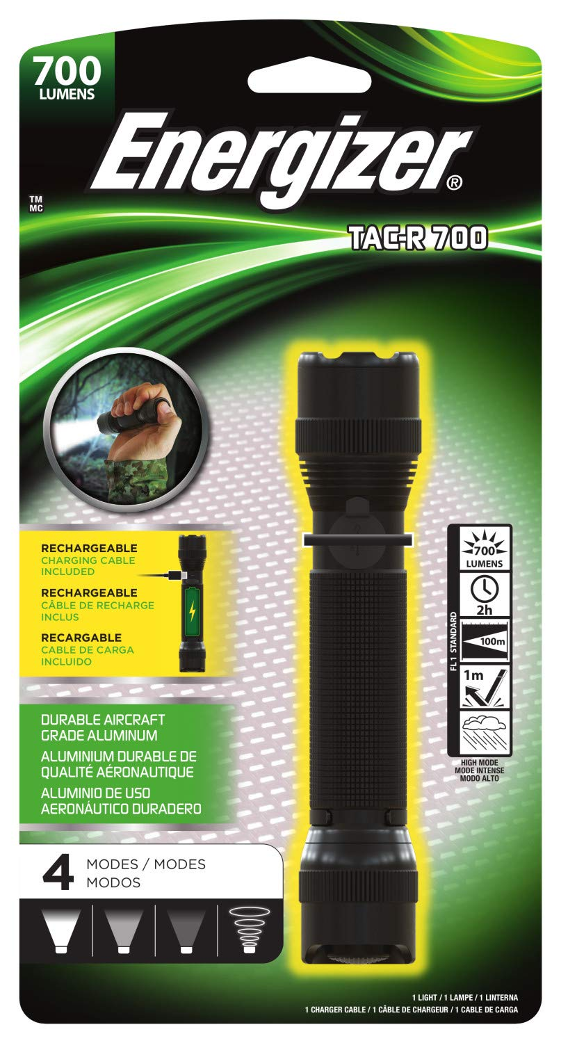 Energizer Tac-r 700 Rechargeable Tactical Flashlight, 700 Lumens 3 Modes by Energizer (Image #2)