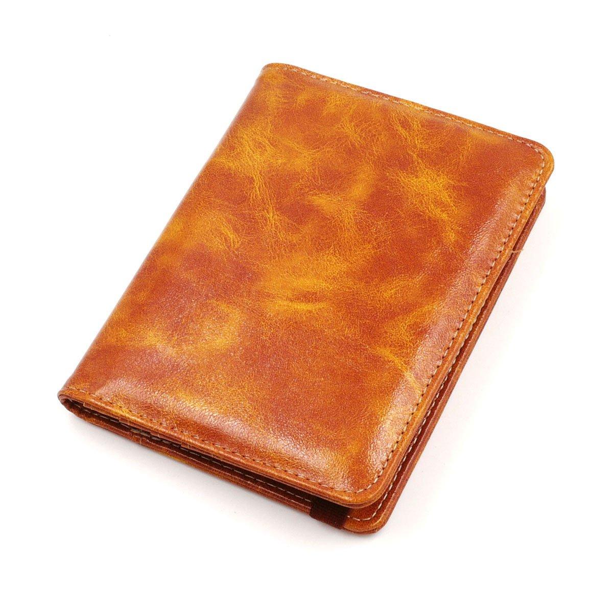 Kandouren RFID Blocking Passport Holder Cover Case, travel luggage passport wallet made with PU Leather, Card holder Green Van gogh Flower travel luggage passport wallet made with PU Leather for Men & Women