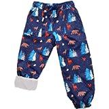 Jan & Jul Kids' Rain or Snow Pants, Water-Proof Cozy-Dry Fleece-Lined for Girls Boys Toddlers