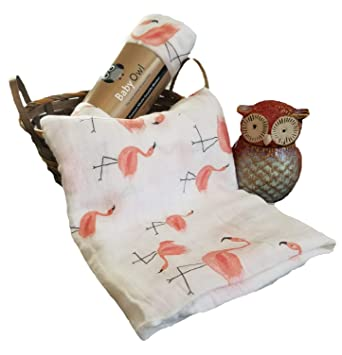 35cb67e7af5 Amazon.com  Premium Bamboo Muslin Swaddle Blanket by Baby Owl